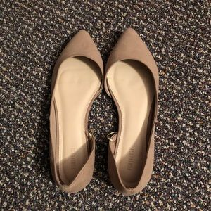 Tan Forever 21 Pointy Flats